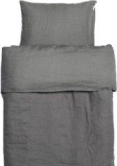 Antraciet-grijze Himla Sunshine dekbedovertrek charcoal 140 x 220 cm