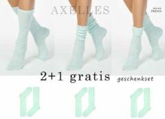 Turquoise AXELLES Gewichtloze kniekousen dikgebreid 2+1gratis, geschenkset, maat 38/39 (25).