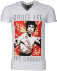 Witte T-shirt Korte Mouw Mascherano T-shirt - Bruce Lee the Dragon