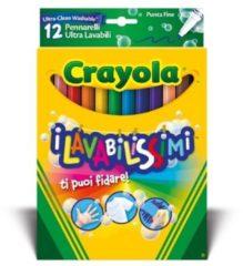 Pennarelli i lavabilissimi punta fine 12 pezzi Crayola