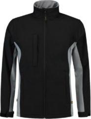 Grijze Tricorp soft shell jack bi-color - Workwear - 402002 - zwart / grijs - maat XXL