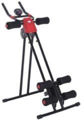 HOMCOM Bauchtrainer Rückentrainer mit LED Display Heimtrainer Rücken Fitnessgerät mit Muskeltrainer