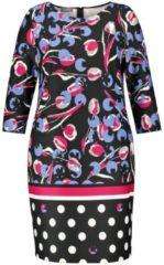 Scuba-Kleid mit Print Samoon Schwarz