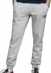 JACK & JONES JEANS INTELLIGENCE gemêleerde regular fit joggingbroek Gordon grijs melange