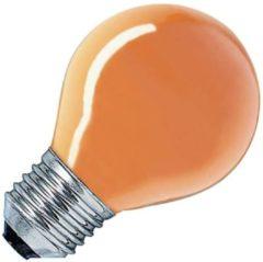 Gloeilampgoedkoop.nl Kogellamp oranje 15W grote fitting E27
