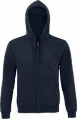 Marineblauwe SOLS Heren Spike Full Zip Hooded Sweatshirt (Franse marine)