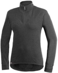 Grijze Woolpower Zip Turtleneck 200 grey - Maat XL