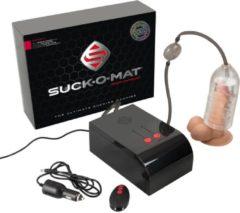 Transparante You2Toys Suck-O-Mat – Zeer Complete Automatische Masturbator Afzuig Systeem voor Realistisch en Intense Ervaring – 15.7 cm – Zwart