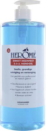 Afbeelding van Herôme Herome Direct Desinfect Double Active (Limited Edition, beperkte voorraad) - 300ml. - Desinfecterende Handgel met 80% Alcohol - Beschermt Tegen Bacteriën en Droogt de Handen Niet Uit