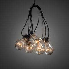 Konstsmide 2397 - Feestverlichting koppelbaar tot 40m - verlengsnoer 10 lamps transp 80 LED - 1000 cm - 24V - voor buiten - extra warmwit