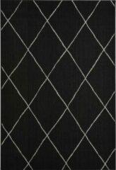 Bruine Garden Impressions Diamonds buitenkleed - 160 x 230 cm - zwart