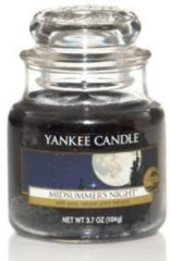 Zwarte Yankee Candle Midsummers Night Small Jar Kaars in Glas