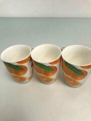 Oranje Merkloos / Sans marque Drinkmokken sinaasappel - 3 stuks