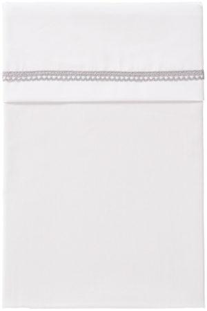 Afbeelding van CottonBaby Wieglaken Broderiekant Grijs 75 x 90 cm