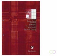 Rode Clairefontaine 5813C Notitieblok Rood Geruit 2-gaats A4 90/95 g/m²