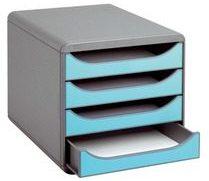 Exacompta Klasseermodule Big-box koffer grijs laden blauw turkoois