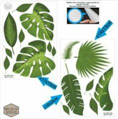 Groene Walldecor Gatenplant blad meubel-, muursticker set