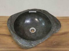 Grijze Puurteak Waskom natuursteen FL2003 - 53x46x15cm