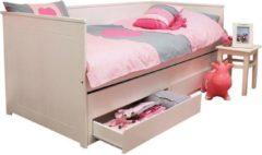 Witte Lilli Furniture Rocky Nanne Bedbank met Slaaplade