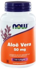Now Foods NOW Aloe Vera 50 mg 100 Softgel