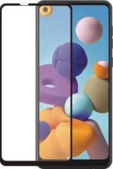 Azuri Curved Tempered Glass RINOX ARMOR zwart frame voor Samsung A21s Smartphone screenprotector