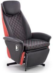 Home Style Fauteuil Camaro in zwart met rood