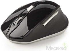 Nedis MSWS300WT Draadloze Muis 800/1200/1600 Dpi Met 6 Knoppen Zwart/wit