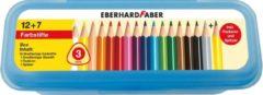Kleurpotlood Eberhard Faber etui 16 stuks met potlood, slijper en gum