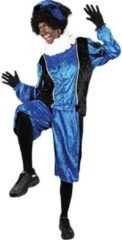 Paarse Roetveeg Pieten kostuum blauw/zwart voor volwassenen 2XL (44/56)