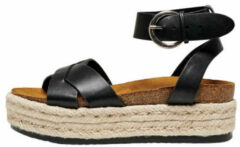 Only onlmauve 1 plateau sandalen zwart