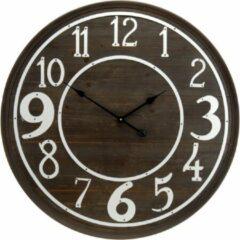 Bruine Modernklokken.nl Grote Vintage Klok 80 cm