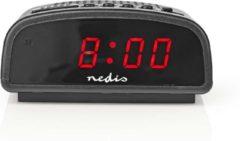 """Zwarte Nedis Digitale wekker Alarm Clock 0.6"""" LED display met Snooze"""