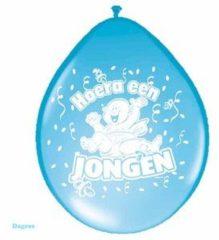 Blauwe Folat Geboorte Ballonnen - Hoera een Jongen - 8 stuks
