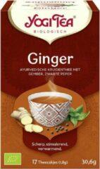 Yogi Tea Ginger - Voordeelverpakking - 6 pakjes van 17 theezakjes
