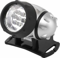 Quana LED Hoofdlamp - Igan Heady - Waterdicht - 20 Meter - Kantelbaar - 7 LED's - 0.54W - Zilver | Vervangt 6W