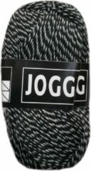 Beijer BV Jogging dunne sokkenwol acryl en wol - zwart wit - naald 2,5 a 3