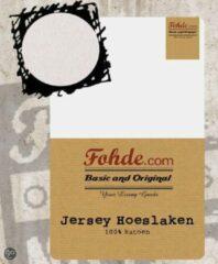 Fohde Hoeslaken Jersey hoeslaken - 80 X 210 cm - Wit