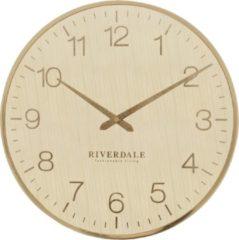 Goudkleurige Riverdale Wandklok Ritz goud 40 cm