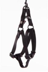 Zwarte Martin sellier instap tuig voor hond nylon zwart 15 mmx30-50 cm