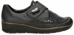 Zwarte Rieker klittenbandschoenen