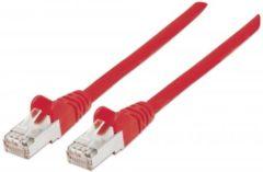 Intellinet 736145 RJ45 Netwerk Aansluitkabel CAT 6 S/FTP 1.00 m Rood Vergulde steekcontacten