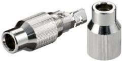 Goobay 12418 Coax-kabelverbinder met schroefbevestiging Kabeldiameter: 7 mm