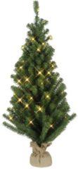 LED-Tannenbaum im Jute-Sack Star Trading grün