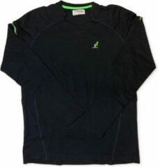 Marineblauwe Australian Heren T-Shirt - Long Sleeve - Navy Blauw - Groen - Maat XXL (56)