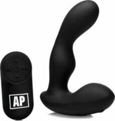 Zwarte Alpha-Pro P-Stroke Prostaat Vibrator Met Bewegende Top
