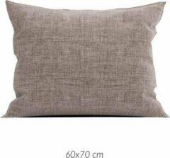 Linnenlook 2x Luxe Linenlook Kussenslopen Chocolade Bruin | 60x70 | Fijn Geweven | Zacht En Ademend