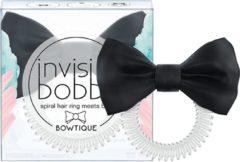 Invisibobble Bowtique Invisibobble - SLIM haarbandje/haarelastiek met zwart zijde strikje - 1stuk