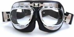 CRG RAF chrome motorbril helder glas