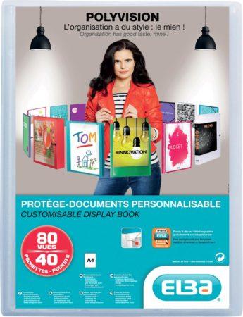 Afbeelding van OXFORD Polyvision personaliseerbare presentatiealbum, formaat A4, uit PP, 40 tassen, transparant
