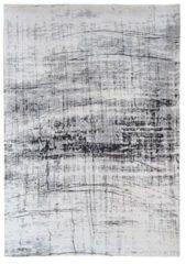 Antraciet-grijze Louis de Poortere vloerkleden Vintage vloerkleed Mad Men, Metro B&W 8926 280x360 cm